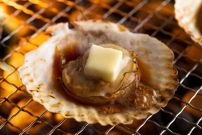 北海道産帆立の殻焼き バター醤油