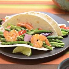 Asparagus & Shrimp Fajitas