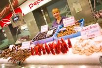 Marisco en el Mercado Central de Valencia