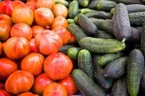 Tomates y pepino Mercado Central