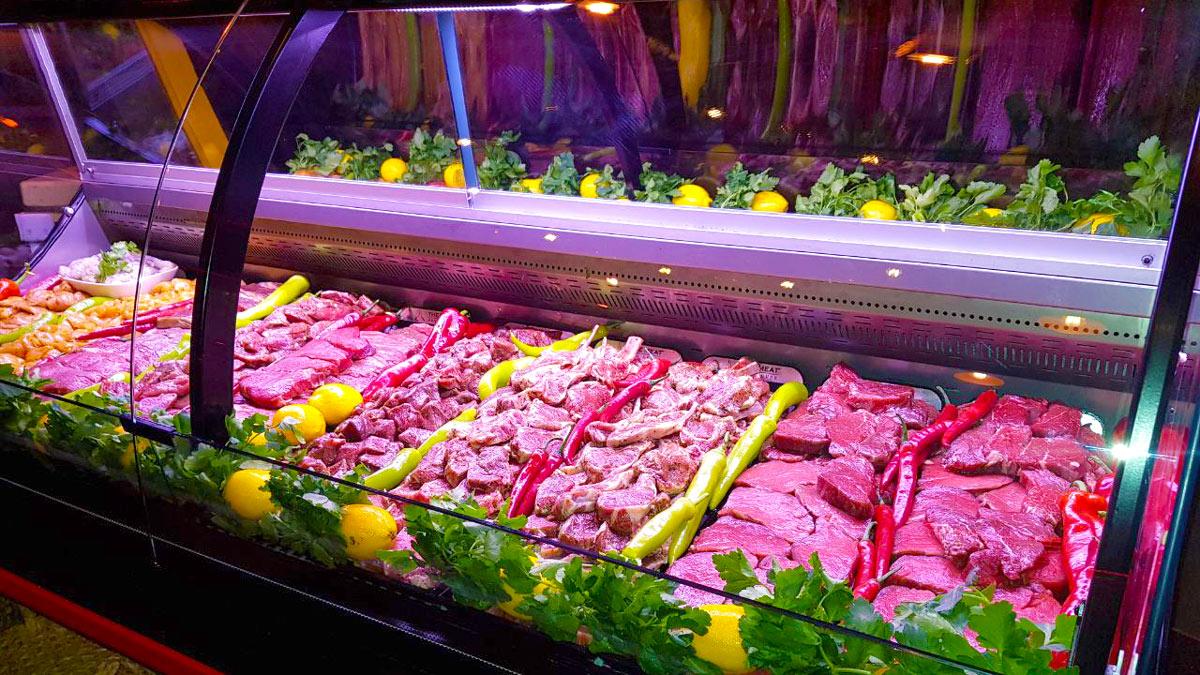 Fleischtheke im The Meat