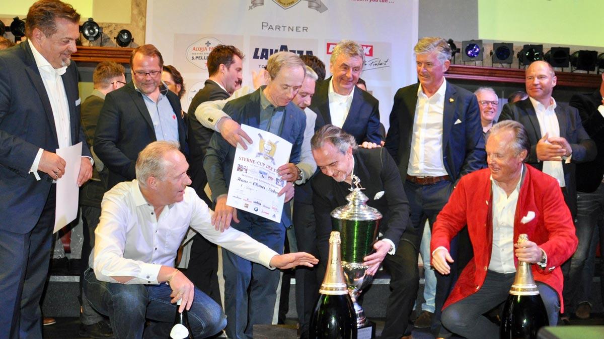 Die Sieger im Life-Cooking Wettbewerb: Sieberer, Obauer, Bacher, Haas, Baumgartner, Dalsas
