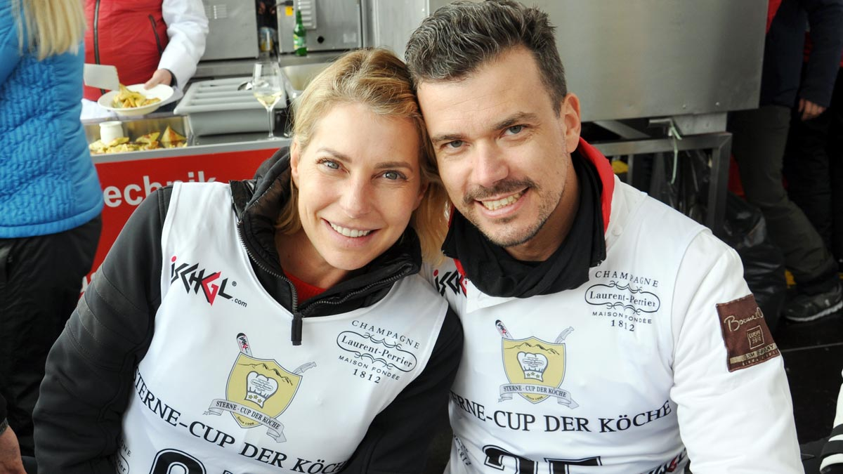 Moderatorin Giulia Siegel und Ludwig Heer