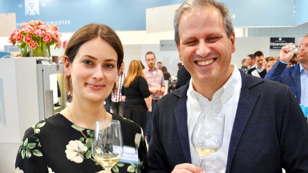 Präsident des VDP: Steffen Christmann und Tochter Sophie, Gimmeldingen