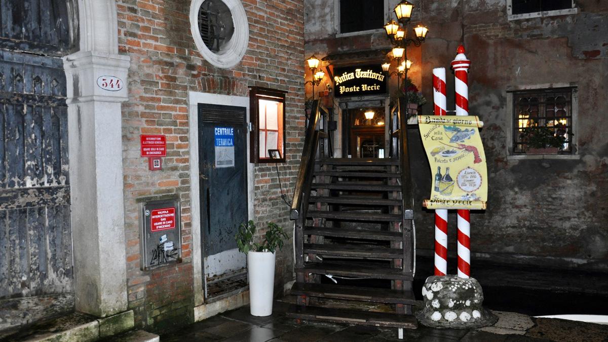 Poste Vecie: Das älteste Restaurant von Venedig. Foto HvF