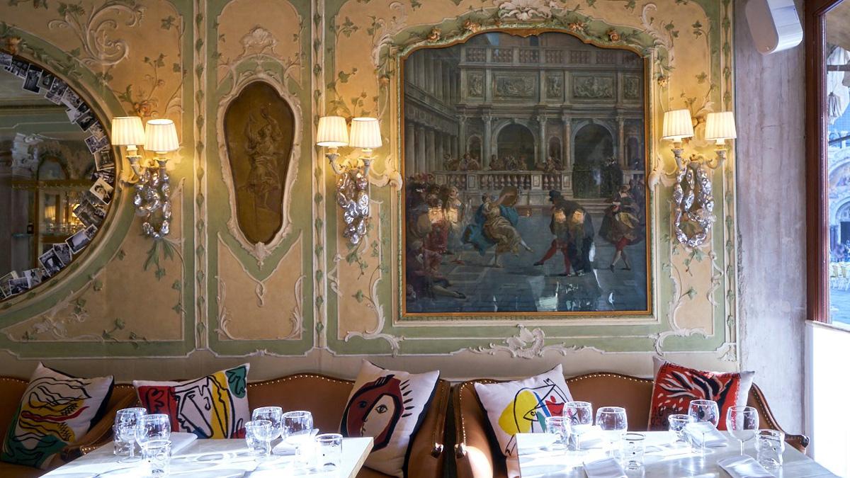 Das Quadri: Das schönste Restaurant in Venedig mit Blick auf den Markusplatz. Foto Quadri