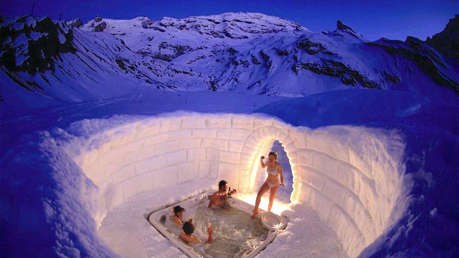 Im Whirlpool wirds heiß. Foto IH