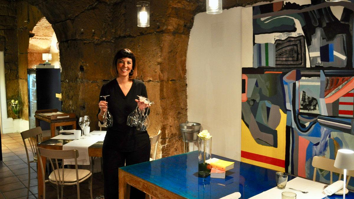 Gagini: Herzlich und kompetent – Julia, Sommelière aus dem Friaul. Foto HvF