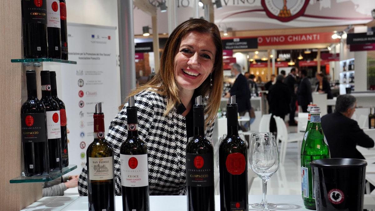 Weingut Terrabianca: Claudia Guercini präsentiert große Chianti aus der Toskana. Foto WR