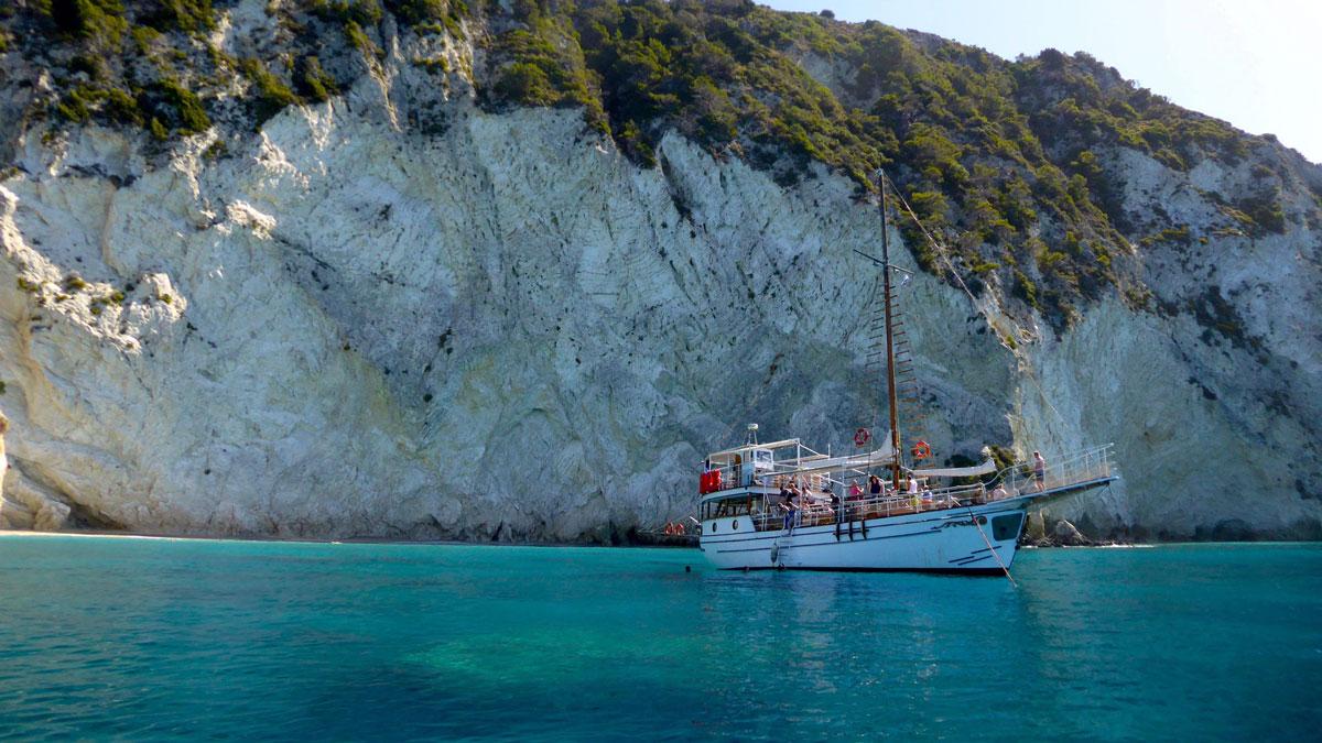 Bootstrip nach Marathonisi, auch Turtle Island genannt. Foto IH