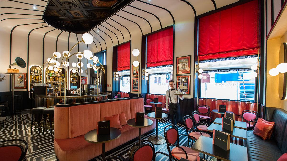 Der Salon Sacher: weniger Plüsch, weniger Samt… Design wie in den französischen Zwanzigern. Foto Sacher
