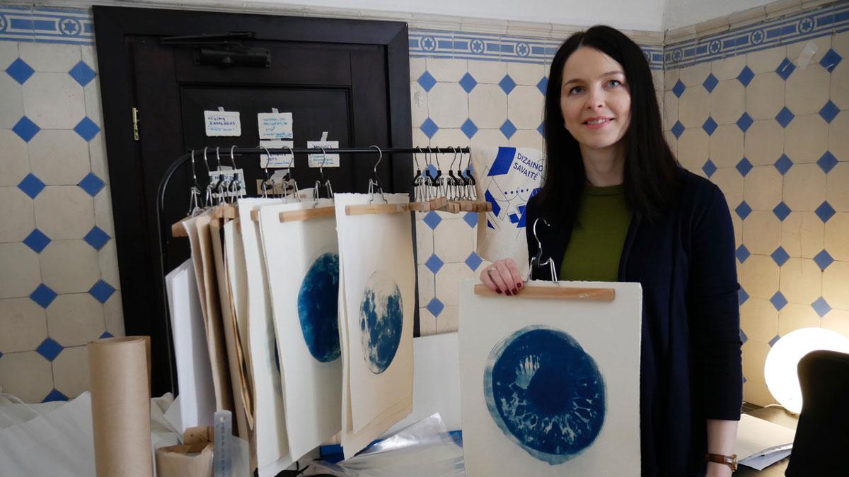 Melena Liukuté Grigaitiene ist eine der Künstlerinnen, die ihr Atelier im Art Incubator haben. Foto JW