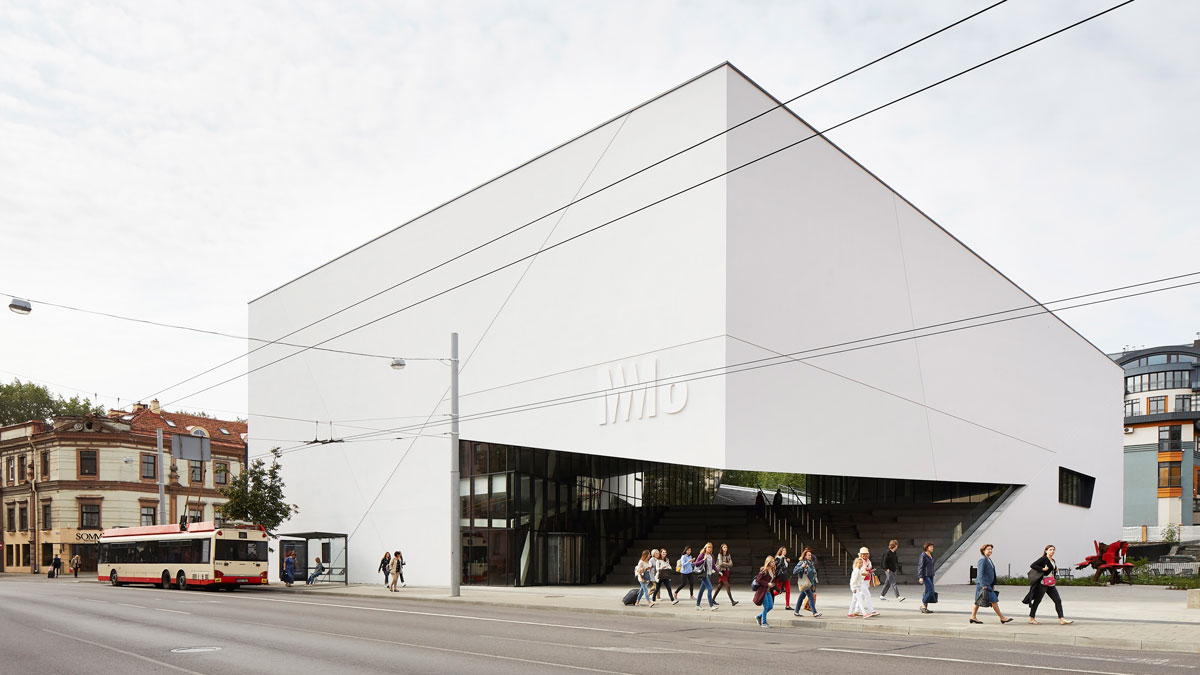 Libeskind Bau in Vilnius, das MO Museum.
