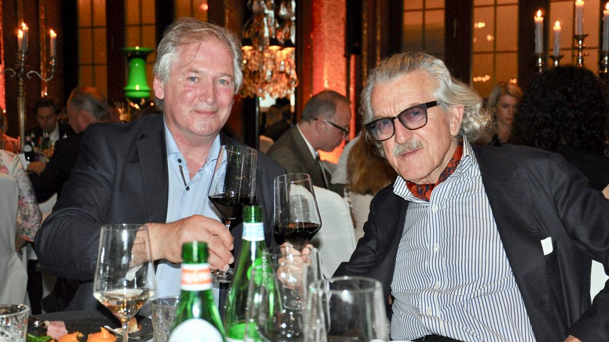 Dieter Meier und Gastgeber Dirk Vangerow Foto WR