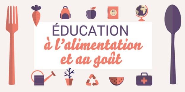 Visuel présentant l'éducation à l'alimentation et au goût -- Source Eduscol