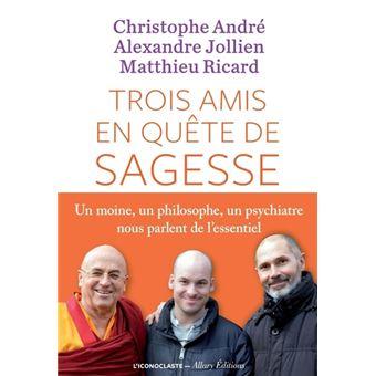 livre trois amis en quête de sagesse christophe andré alexandre jollien matthieu ricard 3 livres qui ont donné du goût à ma vie Gouts et Papilles