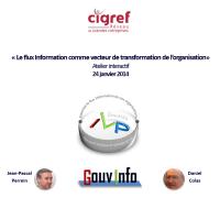 Atelier ILP CIGREF « Gouvernance de l