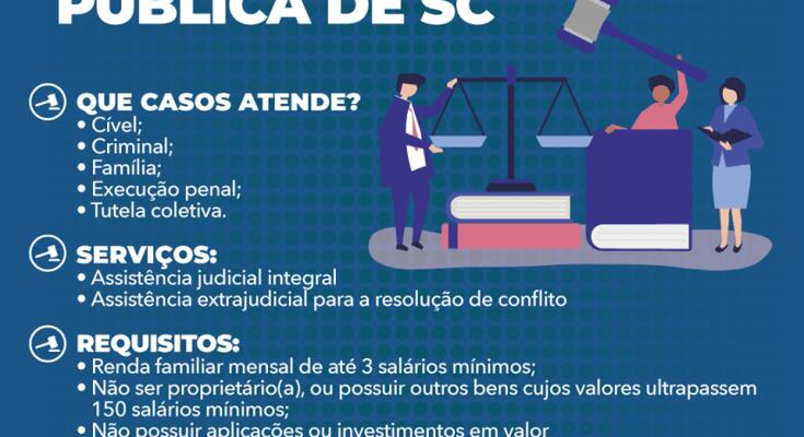 Saiba como contar com a ajuda da Defensoria Pública de Santa Catarina