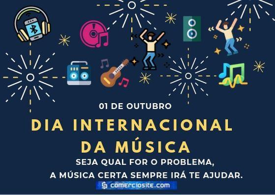 01 de outubro Dia Internacional da Música