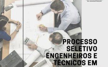 Secretaria da Administração de Santa Catarina abre processo seletivo para engenheiros e técnicos