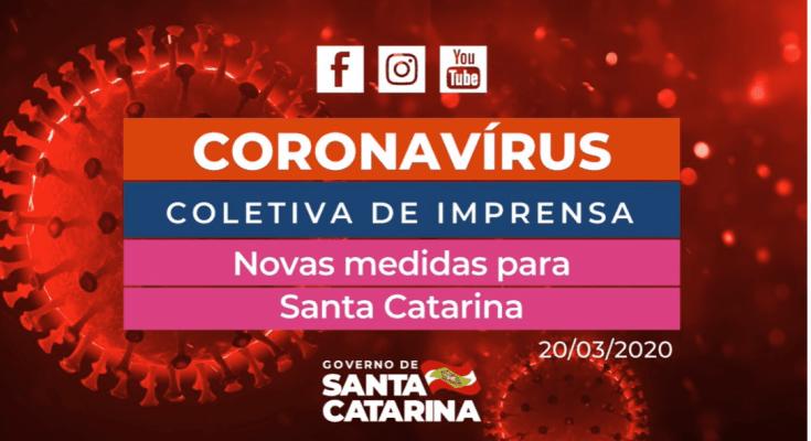 AO VIVO Coletiva de Imprensa 20/03 - Medidas de enfrentamento em Santa Catarina