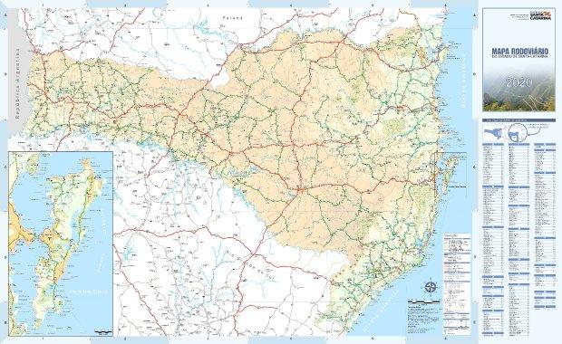 Secretaria da Infraestrutura de Santa Catarina disponibiliza Mapa Rodoviário Catarinense 2020 para download