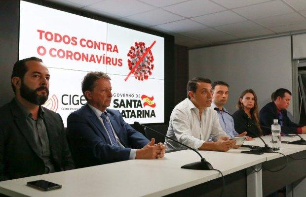 Coronavírus em Santa Catarina: Governador decreta situação de emergência e anuncia medidas restritivas para evitar contágio