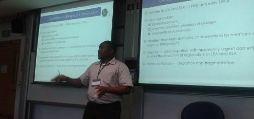 Chris Nshimbi giving his presentation in Singapore