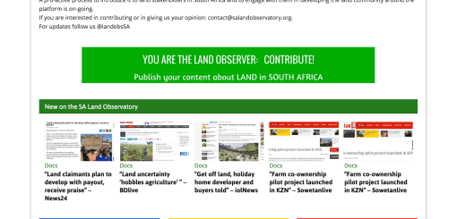 The South African Land Observatory