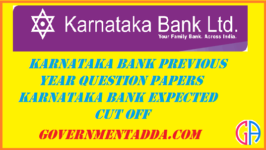 10+ Karnataka Bank Previous Year Question Papers : Karnataka