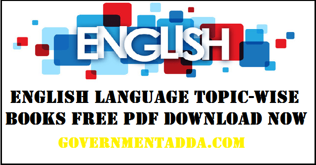 35+ English Language Topic-wise Books Free Pdf Download Now