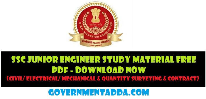 SSC JE Study Material PDF – Junior Engineer Books Download Now