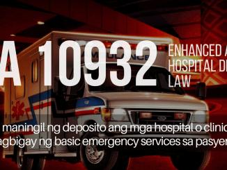 Enhanced Anti-Hospital Deposit Law RA 10932