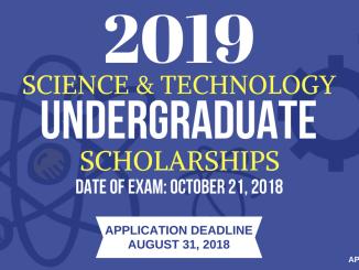 DOST Scholarship 2019