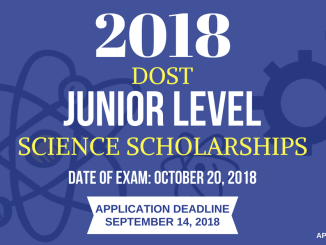 Junior Level Science Scholarship 2018