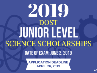 Junior Level Science Scholarship 2019