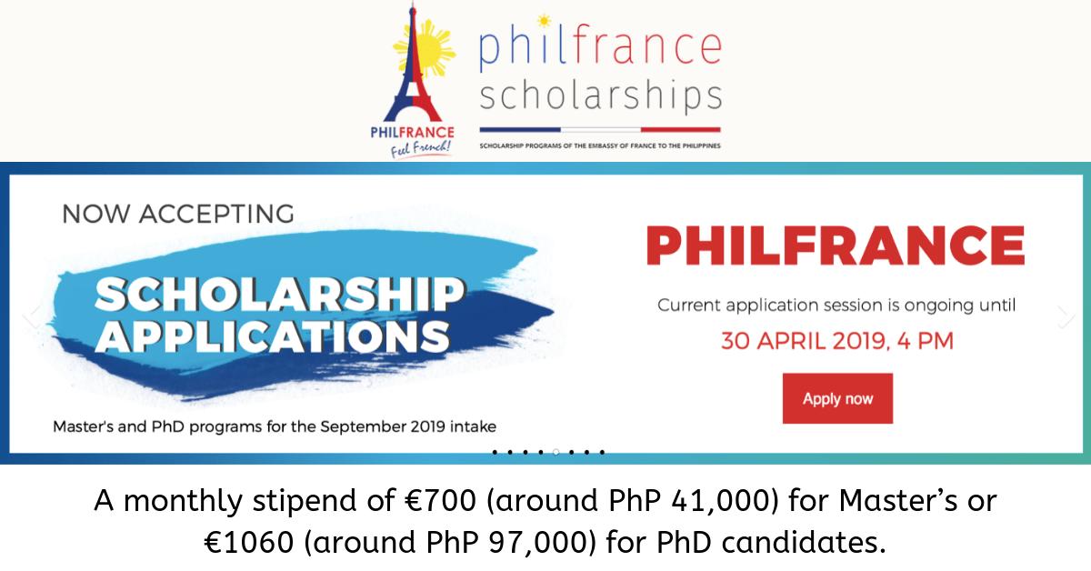 PhilFrance Scholarship 2019 Application