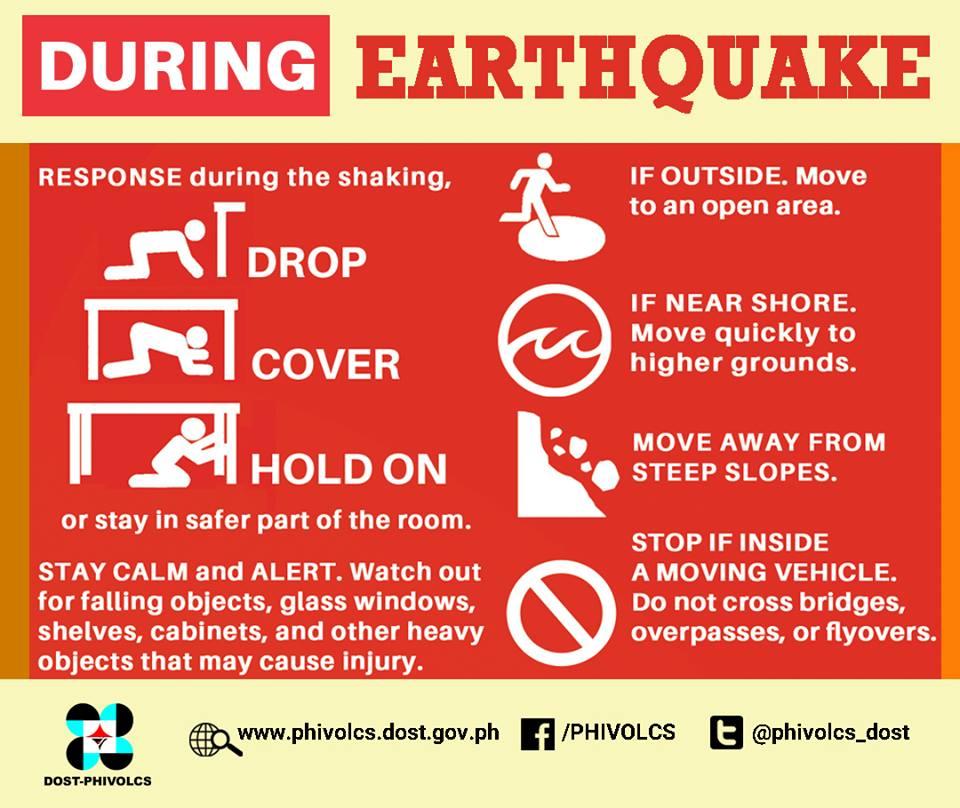 During an Earthquake PHILVOCS