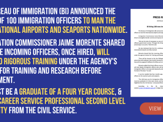 Bureau of Immigration Press Release