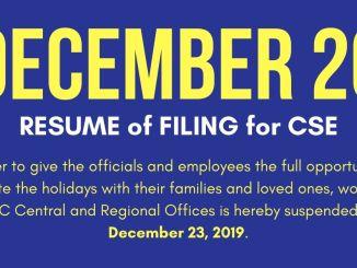 December 23 CSC