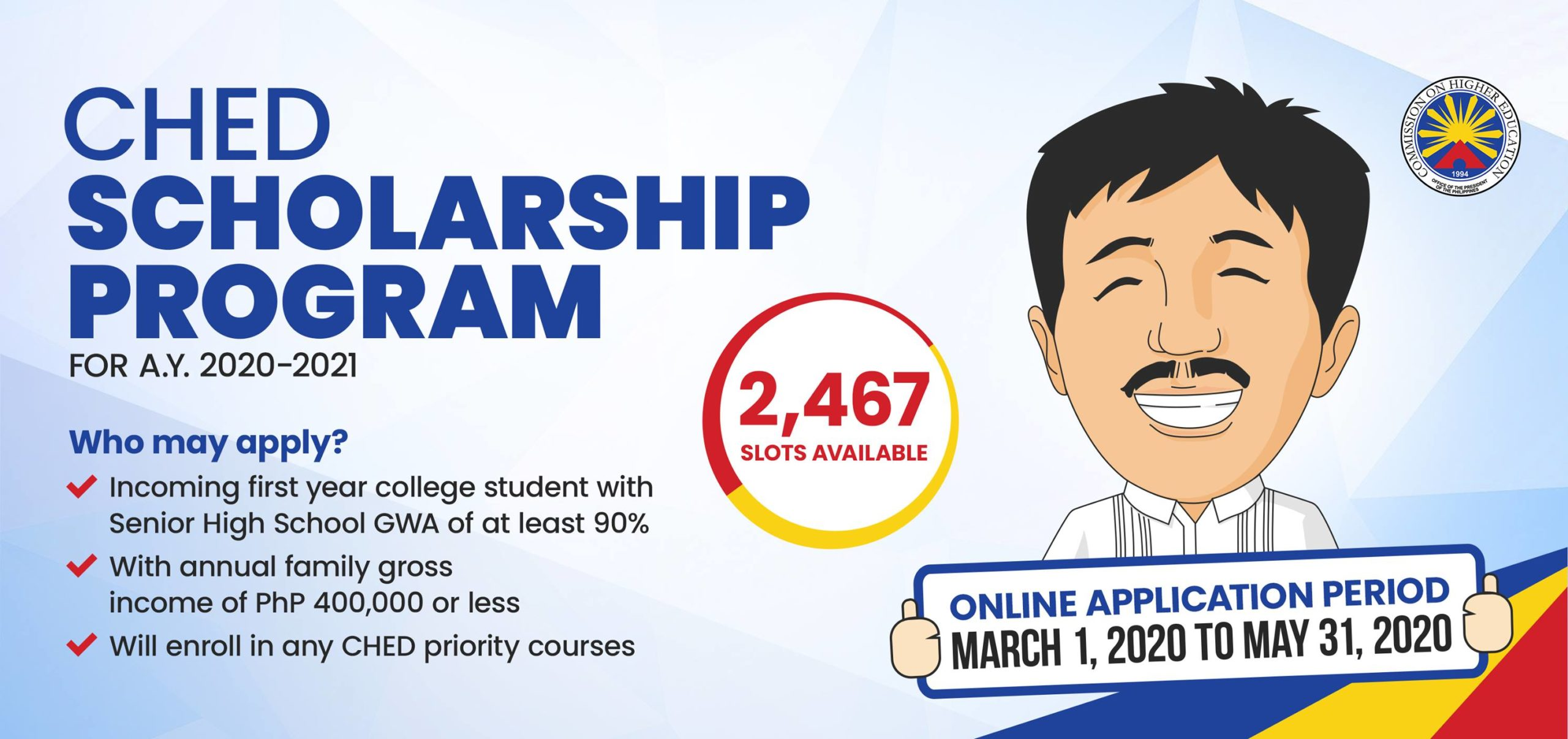 CHED Scholarship Program Details