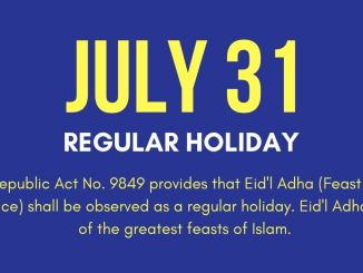 July 31, 2020 Holiday