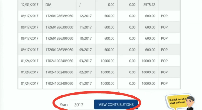 Yearly Contributions PagIBIG Online
