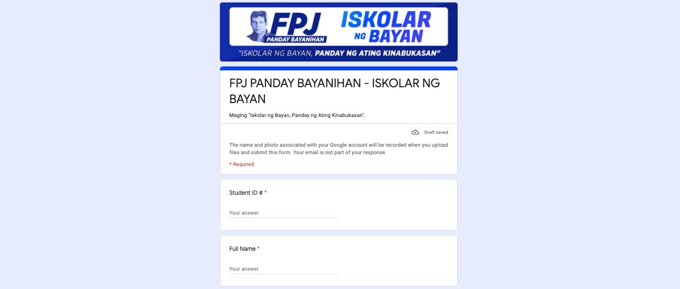 FPJ Panday Bayanihan
