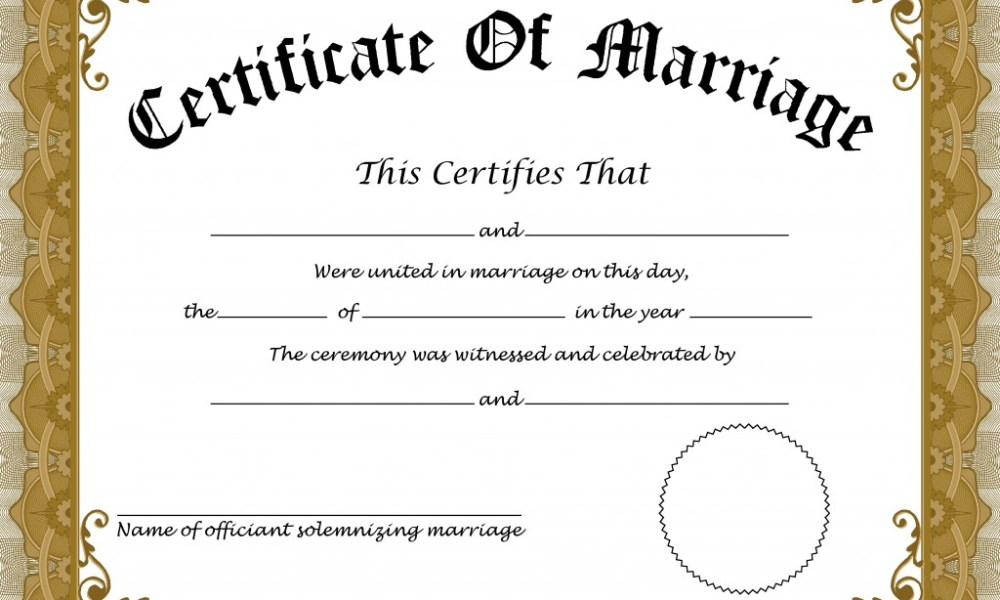 A Peek At Copy Of Marriage Certificate
