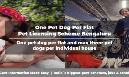 One Pet Dog Per Flat - Pet Licensing Scheme Bengaluru