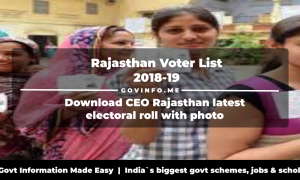 Rajasthan Voter List 2018-19 Download CEO Rajasthan latest electoral roll with photo (Polling station wise constituency wise pooling station booth wise voter list PDF)