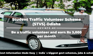 Student Traffic Volunteer Scheme (STVS) Odisha Be a traffic volunteer and earn Rs 3,000 per month Eligibility, objectives & how to apply