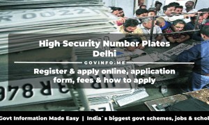 High Security Number Plates (HSNP) Delhi