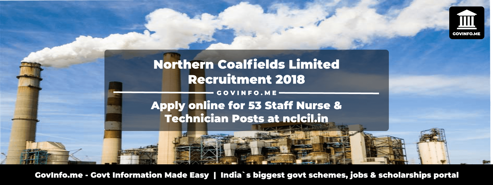 Northern Coalfields Limited Recruitment 2018: Apply online